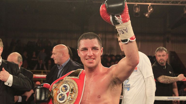 Tommy Coyle: Relieved to still be holding the IBF international belt (Pic Lawrence Lustig)