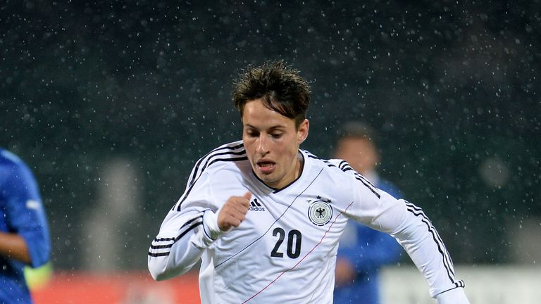 Vladimir Rankovic in action for Germany U20s against Italy U20s