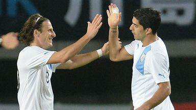 Diego Forlan & Luis Suarez: Provide the attacking spark for Uruguay