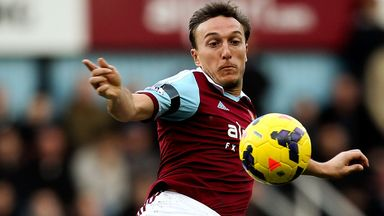 Mark Noble: Hopes his current good form will open a door into Roy Hodgson's England squad