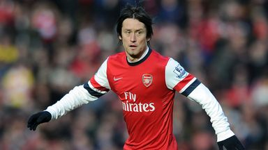 Tomas Rosicky: Poised to sign new deal with Arsenal