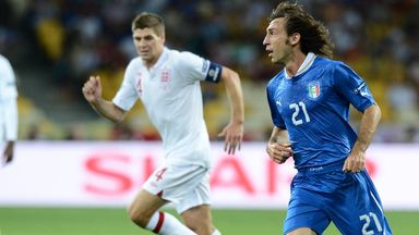 Andrea Pirlo: Set to take on Steven Gerrard's Three Lions