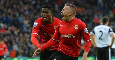 Wilfried Zaha (left): Starred on Cardiff debut