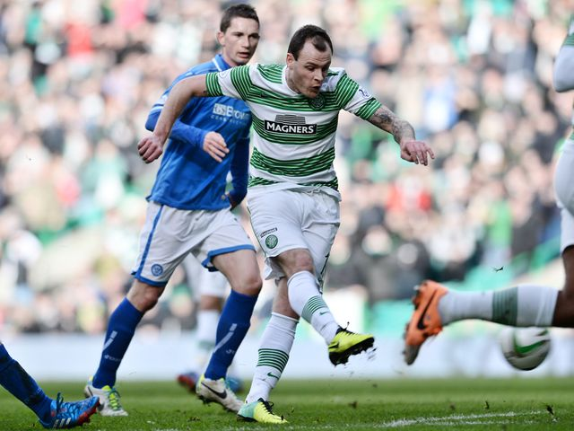 Celtic's Anthony Stokes shoots on goal