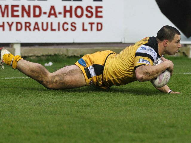Justin Carney crossed over for a try against the Wildcats