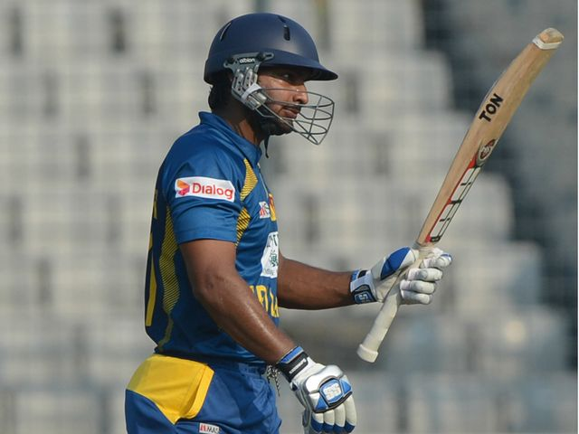 Kumar Sangakkara: Top scored with 76 for Sri Lanka