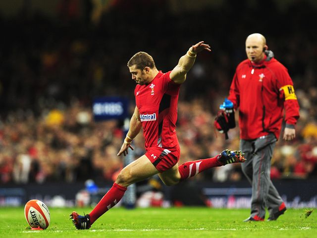Leigh Halfpenny kicks another conversion