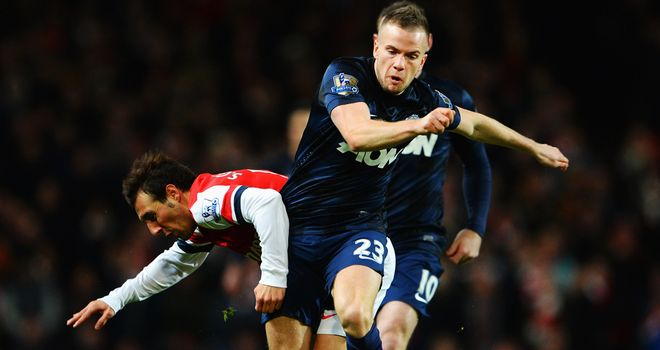 Tom Cleverley: The central midfielder's passing was disappointing against Arsenal at the Emirates