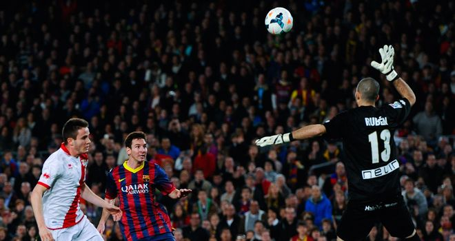 Lionel Messi scores an historic goal for Barcelona