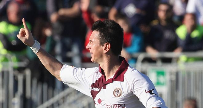 Emerson celebrates scoring for Livorno