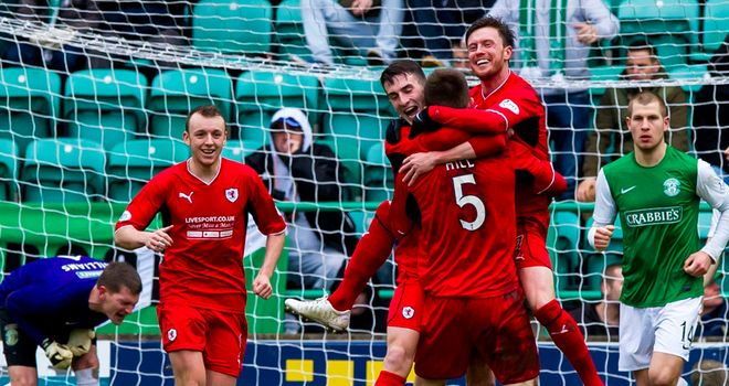 Dougie Hill: Earns the plaudits after his goal in Raith's 3-2 Cup win at Easter Road