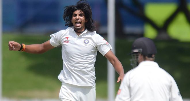Ishant Sharma enjoyed a great day in Wellington