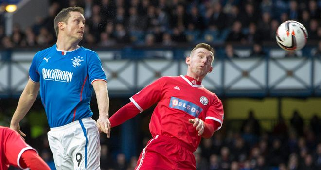 Jon Daly: Glances in a Lee Wallace free-kick to make it 2-0