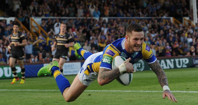 Zak Hardaker: two tries for Leeds