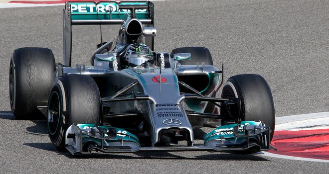The lead car so far this winter: The Mercedes W05