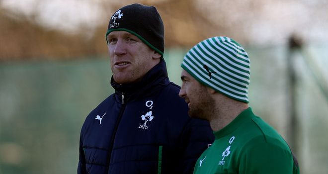 Paul O'Connell and Rob Kearney: Sat out Ireland training on Tuesday