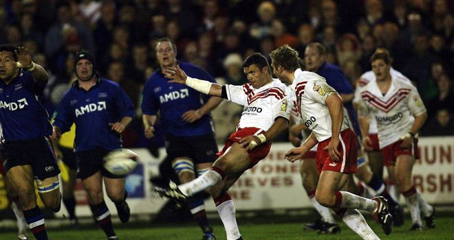 Sale Sharks beat St Helens in 2003 in the last union/league fixture