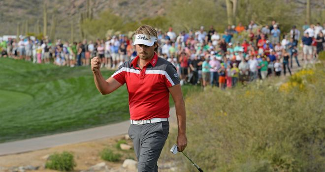 Victor Dubuisson: Won a tense encounter against Graeme McDowell