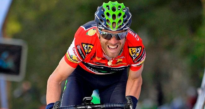 Alejandro Valverde extended his lead to 19 seconds