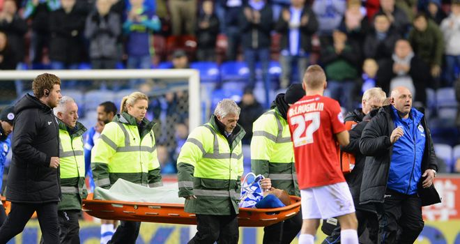 Ben Watson: Stretchered off on Tuesday