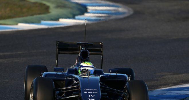 Felipe Massa drives the FW36