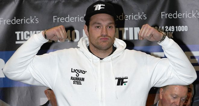 Tyson Fury: Wore a tracksuit on the scales