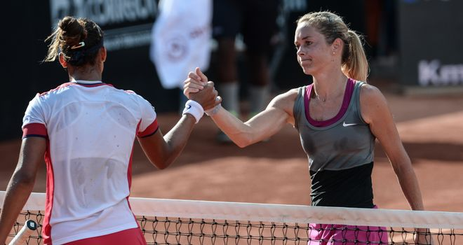 Klara Zakopalova (right): Czech has lost 11 finals in a row on WTA Tour