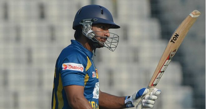 Kumar Sangakkara: Struck his 17th ODI century as Sri Lanka sealed series victory over Bangladesh