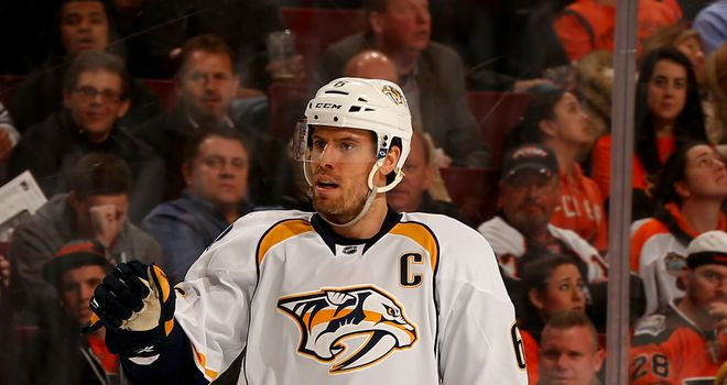 Shea Weber: Struck twice for the Pedators in their win over the New Jersey Devils