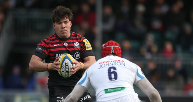 Schalk Brits: Saracens hooker scored second-half try