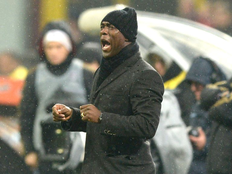 AC Milan manager Clarence Seedorf reacts during the 1-1 draw