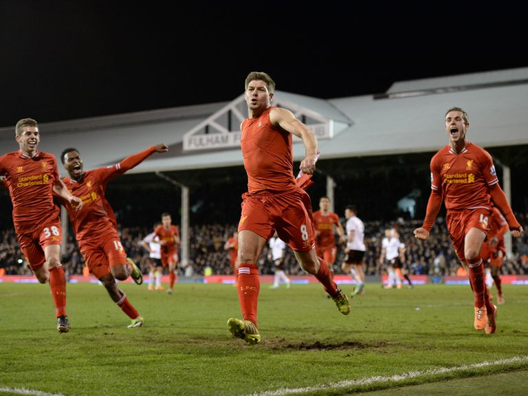 Steven Gerrard: Scored the winning goal against Fulham