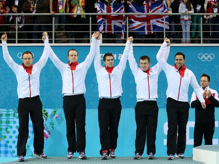 Great Britain won a silver medal in the curling