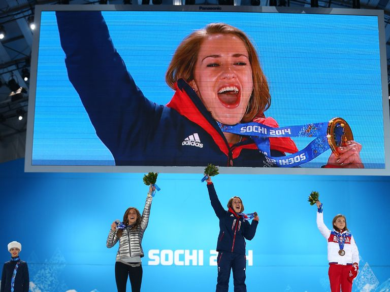Lizzy Yarnold enjoys her moment