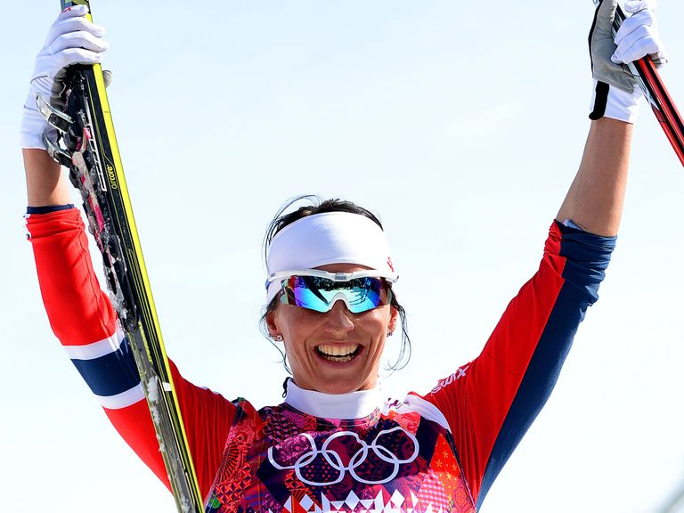 Marit Bjoergen: Claimed her third gold medal of the Sochi Games