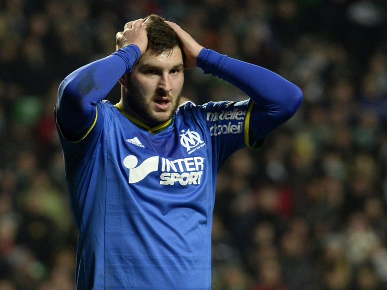 Frustration for Marseille's Andre-Pierre Gignac