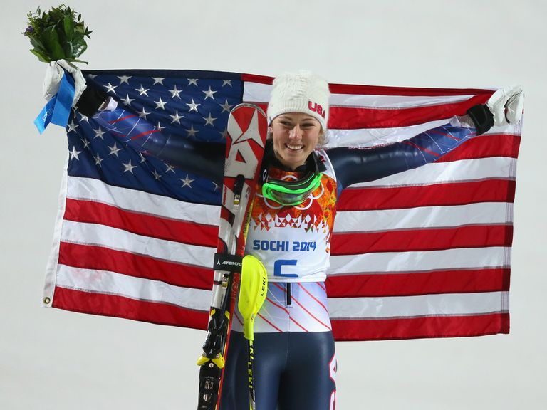 Mikaela Shiffrin: Won a gold medal in the slalom