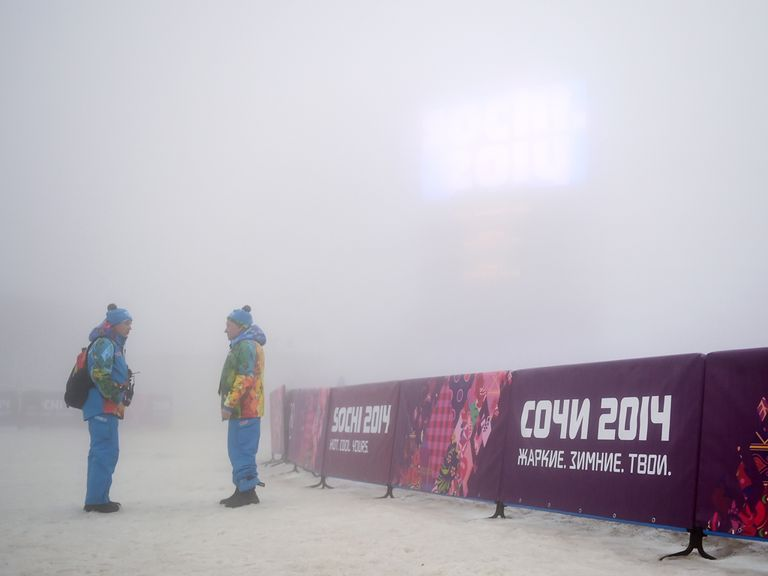 Fog was causing problems in Sochi on Monday