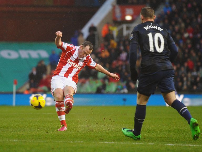 Charlie Adam's first goal took a deflection on its way in