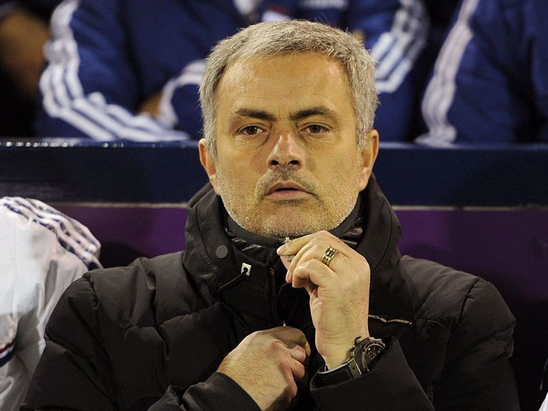 Mourinho watched his Chelsea side draw at West Brom