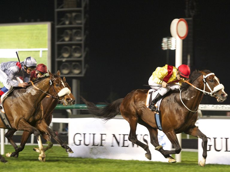 Anaerobio in winning action (Andrew Watkins/Dubai Racing Club)