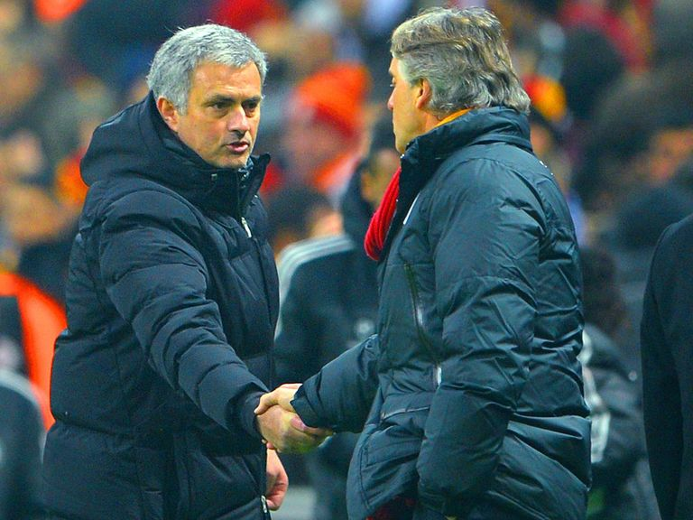 Jose Mournho and Roberto Mancini go head to head again on Tuesday