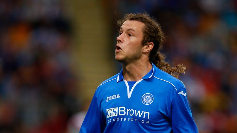 Super Stevie: May has been in the goals for St Johnstone this term