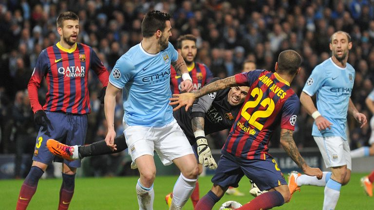 Barcelona: dominated possession in the first leg against City