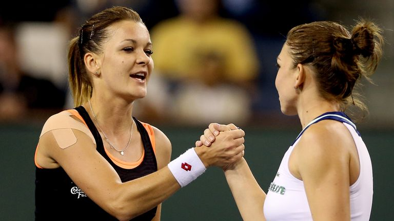 Agnieszka Radwanska: Reached her first final at Indian Wells after beating Simone Halep