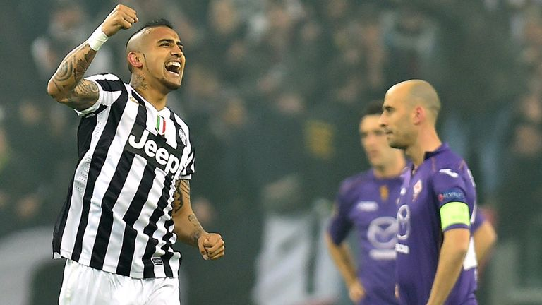 Arturo Vidal's Juventus beat Fiorentina in the last 16