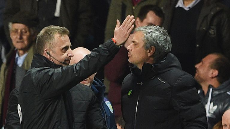 Jose Mourinho: Chelsea manager is ordered to the stands at Villa Park
