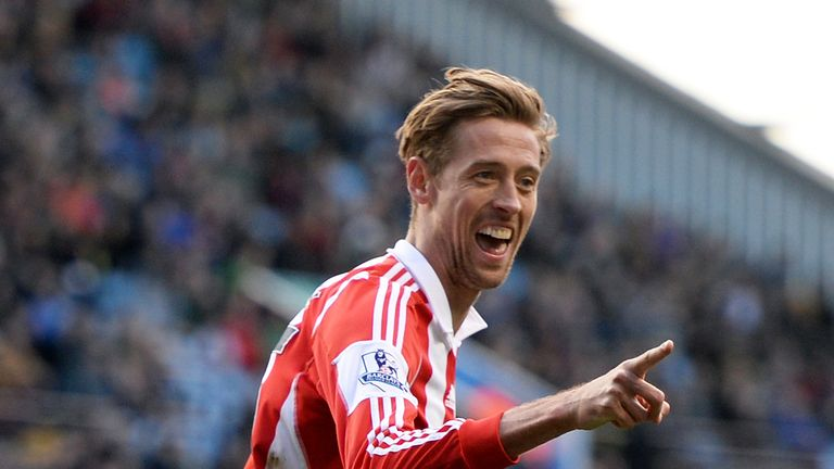 Peter Crouch: Instrumental in Stoke's win at Aston Villa
