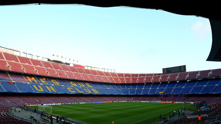 The Nou Camp: Plans include a roof for the revamped stadium