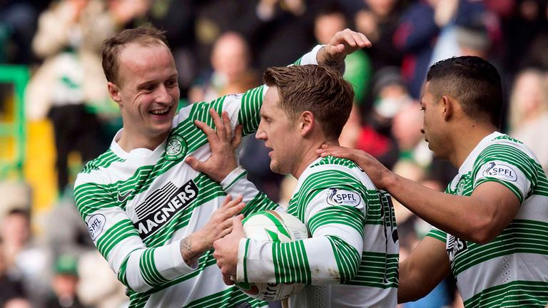 Kris Commons: Celebrates his equaliser against Ross County